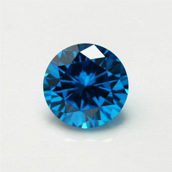 5A Deep Marine Blue CZ | Round Faceted | H1901A