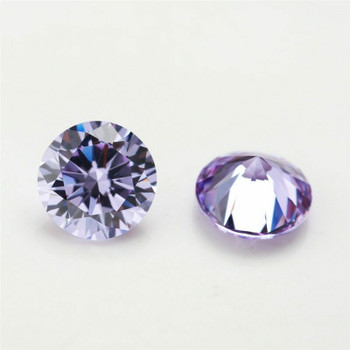 5A Lavender CZ   Round Faceted   H1901B