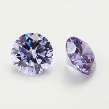 5A Lavender CZ | Round Faceted | H1901B