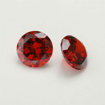 5A Garnet CZ | Round Faceted | H1901D