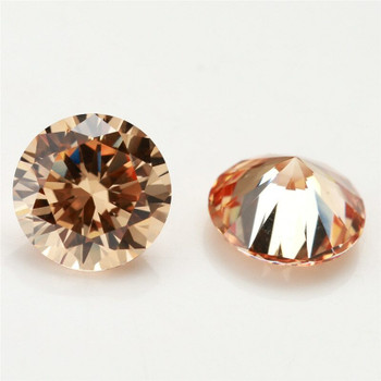 5A Champagne CZ | Round Faceted | H1901G