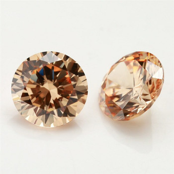 5A Champagne CZ   Round Faceted   H1901G