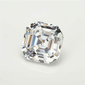 5A White CZ | Square Faceted | H1901H
