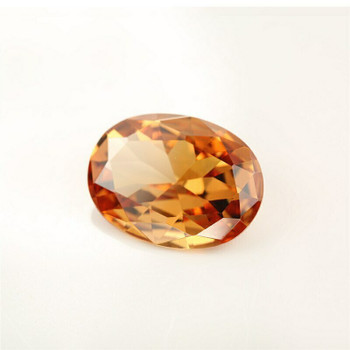 5A Champagne CZ | Oval Faceted | H1902B