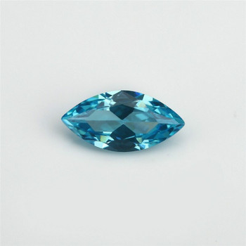 5A Marine Blue CZ | Marquise Faceted | 4x8mm | H190211