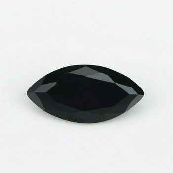 5A Black CZ | Marquise Faceted | 6x12mm | H190212