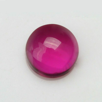 Lab-Created Ruby | Smooth Round Cabachon | H1902J