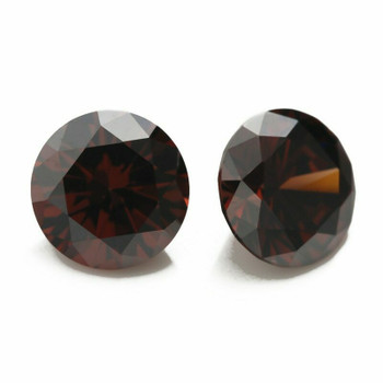 5A Coffee CZ | Round Faceted | H1903A