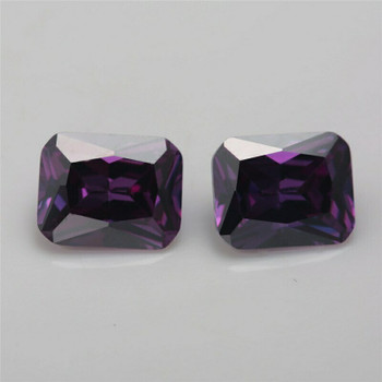 5A Amethyst CZ | Rectangular Faceted | H1903C