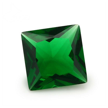 Synthetic Glass Emerald | Square Faceted | H1903F