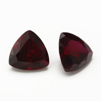 Lab-Created Ruby | Triangular Faceted | H1903G