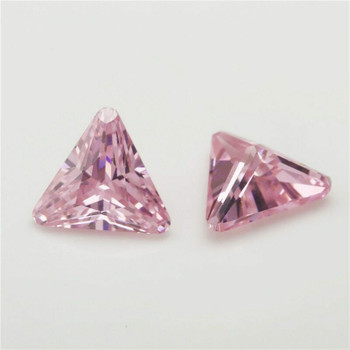 5A Pink CZ | Triangular Faceted | H1903H
