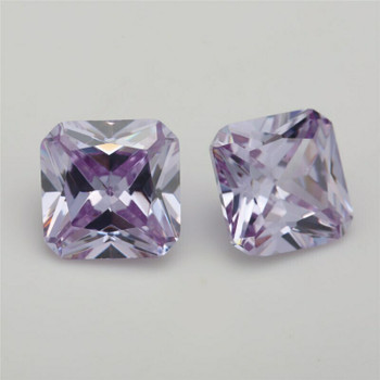 5A Lavender CZ | Square Faceted | H1903I