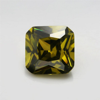 5A Olive Green CZ | Square Faceted | H1903J