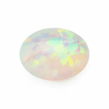 Lab-Created Opal | Smooth Oval Cabachon | 6x8mm | H190347