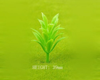 Scale Model Plant 10pc | 39mm | Green |Sold by 10Pc/Pk | AM0044