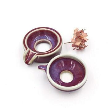 Ju Glazed Tea Strainer | Red | H190620