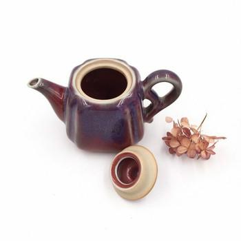 Ju Glazed Teapot | Faceted | H190622