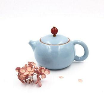 Blue Tian Qing Teapot | Short | H190640