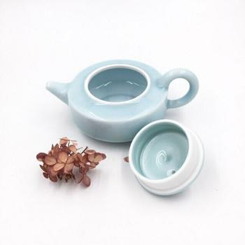 Blue Celadon Teapot | Squat | H190642