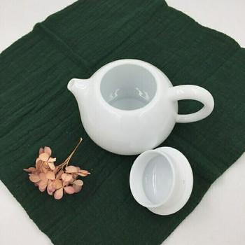 Round Porcelain Teapot | Convex Lid | H190647