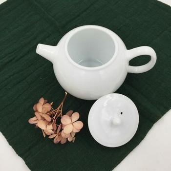Round Porcelain Teapot | Flat Lid | H190648