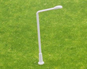 Scale Model Street Light 5Pc | 1:75 (43mm) | White Single Side | Sold by 5Pc/Pk | AM0062