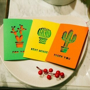 (AR) Yellow Cactus Greeting Card With Envelop | H194901