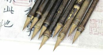 Burned Bamboo Brush | Weasel Hair | Bristle Length: 2.1cm | H200516
