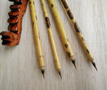 Speckled Bamboo Brushes   Rabbit Hair   H1963R