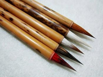 Speckled Bamboo Brushes   Various Hair Types   2.0cm Bristle Length   H1963SV