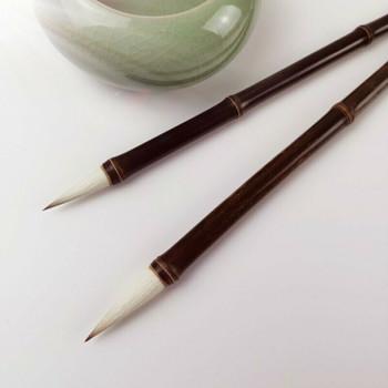Burned Bamboo Brushes | Badger Hair | H1963B