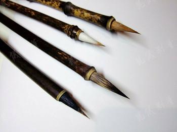 Burned Bamboo Brushes | Various Hair Types | 2.0cm Bristle Length | H1963BV