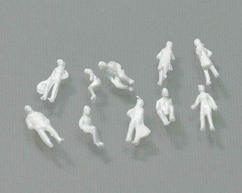 Scale Model Figures set of 10| 1:200 (9mm) | White | Sold by 10Pc/Set | AM0030