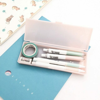 (STRG) Plastic Pencil Pen Case | Pink | Medium | PPPC.P.M