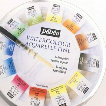 Pebeo Solid Watercolor Set of 12 | H193408