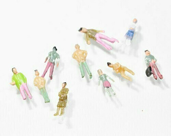 Scale Model Figures Set of 10| 1:200 (12mm) | Painted | Sold by 10Pc/Set | AM0032
