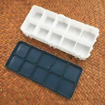 Color Box Rubber leakproof Lid 10 Grids | CGB010