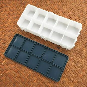 Color Box Rubber leakproof Lid 10 Grids | CGB010