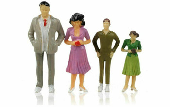 Scale Model Figures set of 10| 1:100 (18mm) | Painted | Sold by 10Pc/Set | AM0058