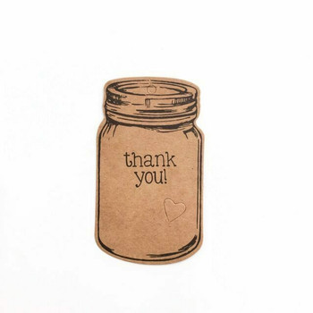 "30% OFF was $4.25 | Brown Rustic Labels | Mason Jar ""Thank You"" 