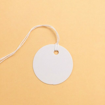 30% OFF was $7.32 | White Circle Labels with String | 50pc Pack | H197205