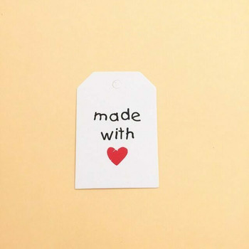 "30% OFF was $4.80 | White Tag Labels | ""Made with Love"" 