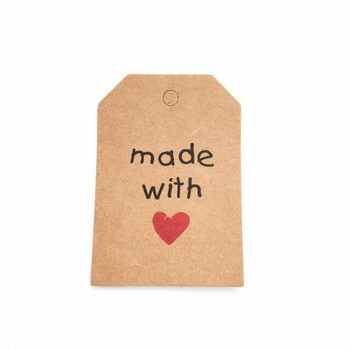 "30% OFF was $4.80 | Brown Tag Labels | ""Made with Love"" 