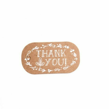 "30% OFF was $3.25 | Rustic Brown ""Thank You"" Labels 