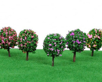 Scale Model Tree 5pc | 37mm | Rose Flower | Sold by 5Pc/Pk | AM0050