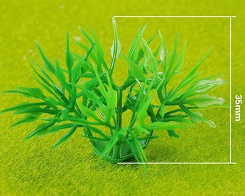 Scale Model Plant 10pc   35mm   Green  Sold by 10Pc/Pk   AM0042