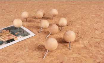 Wooden Sphere Push Pins | 10mm | Box of 150 | H198209