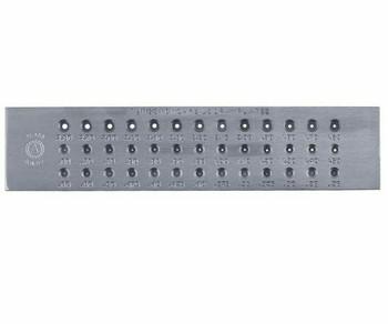 Drawplate | Tungsten Carbide Insert Round | Round 9-29ga(0.26-2.8mm) | Sold by Pc | 113772 1