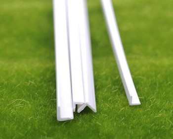 ABS Plastic Bar | Angle | 4x4x250mm | Sold by Pc| AM0069